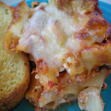 Baked Ziti With Thick Rich Meat Sauce