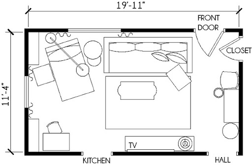 Narrow Living Room Floor Plan