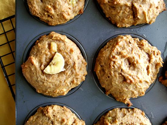 pb banana sandwich muffins