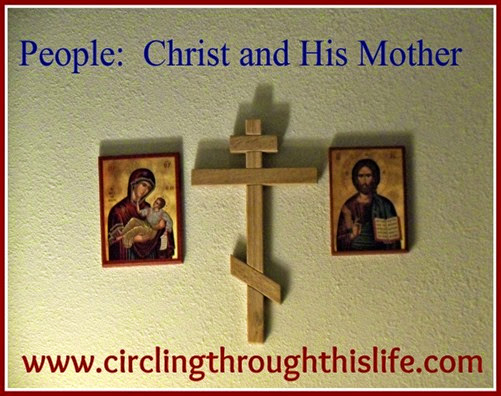 Icons of People Christ and His Mother