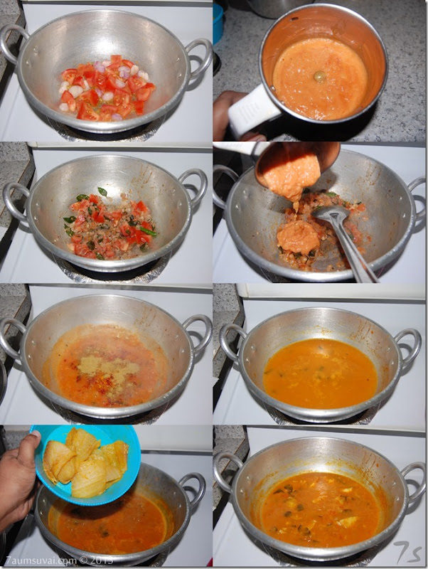 Fish curry without coconut process