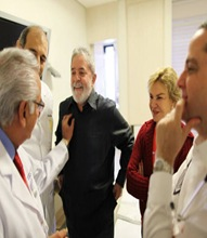 Lula encerra primeira etapa de tratamento contra o câncer.