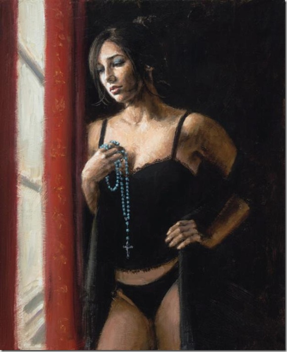Fabian Perez 1967 - Argentine Figurative painter - Reflections of a Dream - Tutt'Art@ (19)