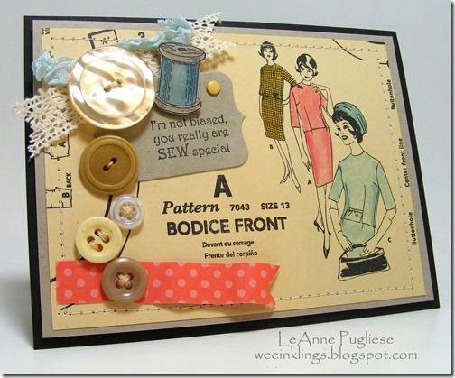 LeAnne Pugliese Wee Inklings Vintage Sewing Card