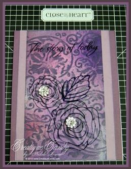 Clear Cardstock Stamping
