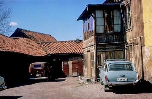 Bakgård i kvarteret S:t Per 1963