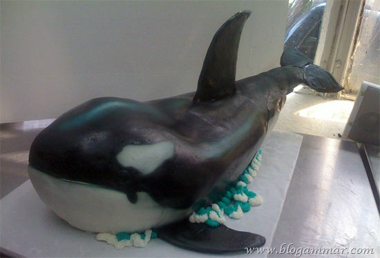 Kek ikan paus