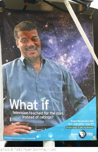 'Neil deGrasse Tyson Reading Poster' photo (c) 1980, Ryan Somma - license: http://creativecommons.org/licenses/by/2.0/