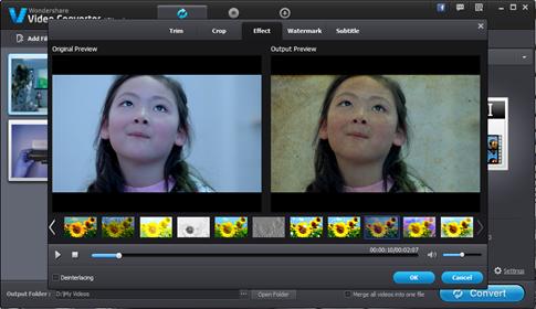 Wondershare Video Editor - los mejores filtros de video