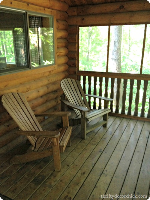 cabin with screened porch