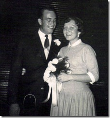rae & hugh wedding 4 Nov 1955