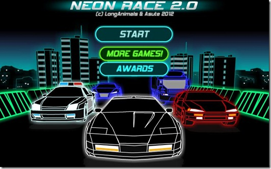 Neon Race 2 free web game (1)