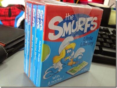 The Smurfs Mini Library books box set