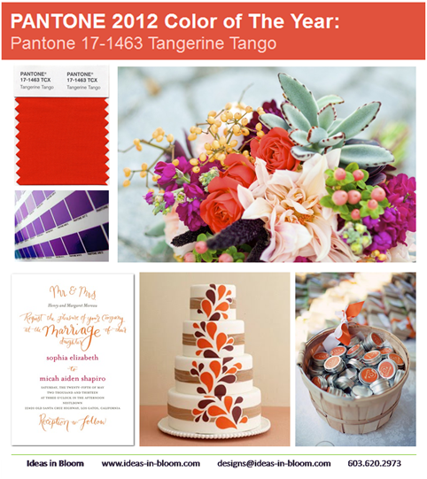 Ideas in Bloom Pantone Tangerine Tango