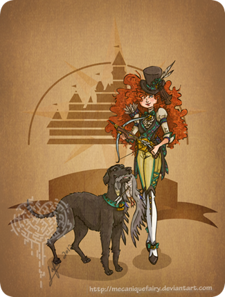 Disney Steampunk Merida by MecaniqueFairy