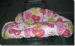heart pink yellow trolley cover front