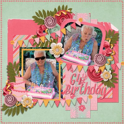 MDK Scraps - Birthday Girl - 64th Birthday
