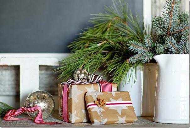 case e interni - shabby chic - decorazioni Natale (3)