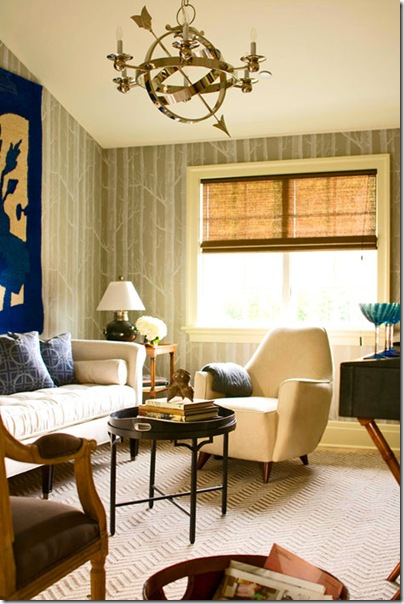 sphere lighting in living room'