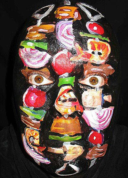 Self-Portraits Face Paintings by James Kuhn