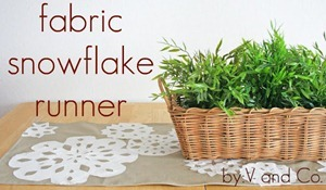fabric snowflake runner tutorial[7]