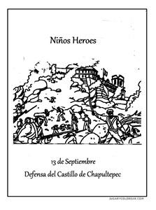 niños heroes de chapultepec jugarycolorear (17) 1 1
