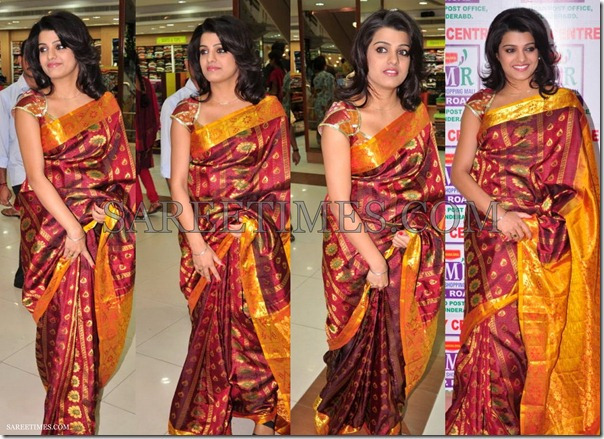 Soudamini_Maroon_Traditional_Saree