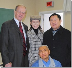 Bill. Simeon, Sandra and  Hyun Jim Kim