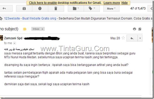 email pengunjung tintaguru