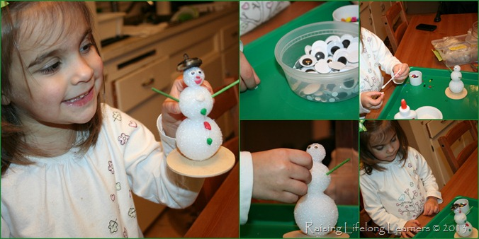 Crafting a snowman