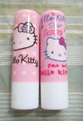 hello kitty lipbalms, bitsandtreats