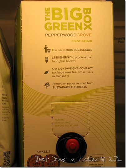 bix green box of wine