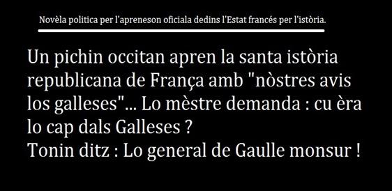 reduccion de l'apreneson de l'istòria oficiala republicana francesa