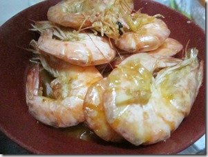 shrimps in garlic sauce, 240baon