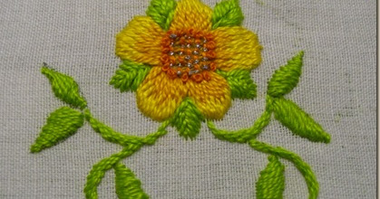 Knitting Outline Stitch : Bluebell Wood: Stem Stitch compared to Outline Stitch