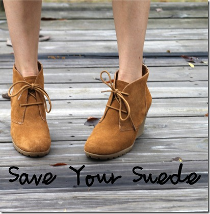 Save your suede by easily waterproofing for Winter weather