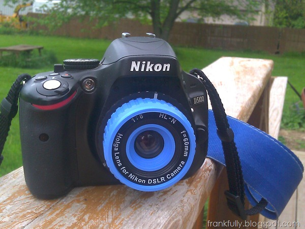 Blue Holga Lens on Nikon D5100