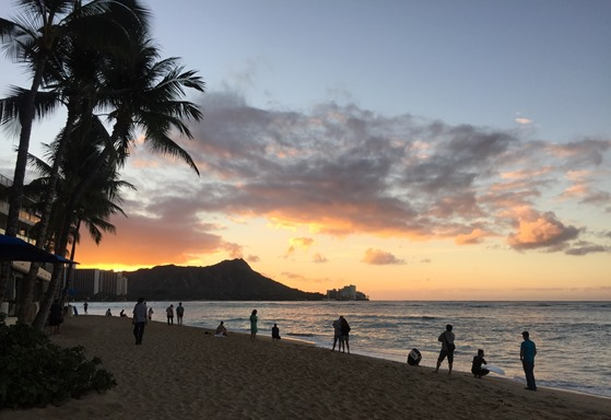Diamond Head at sunrise