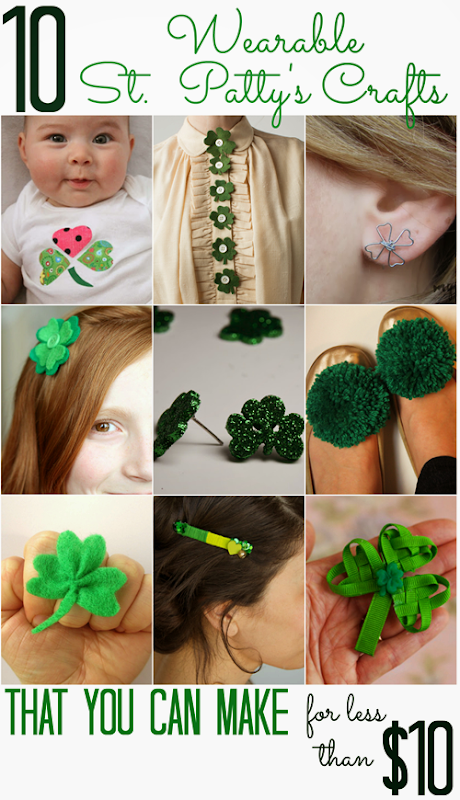 10 Wearable St. Patrick's Day Crafts (that you can make for less than $10)
