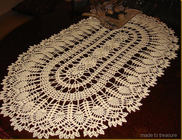 pineapple garden doily