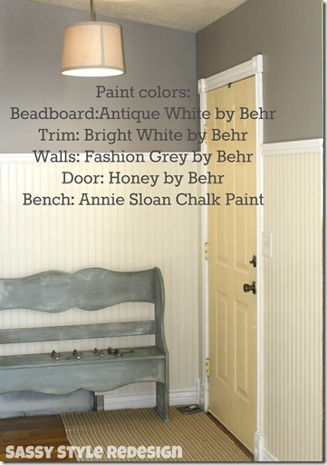 entryway with paint colors