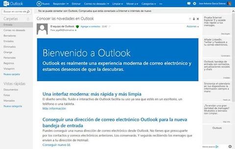Bienvenida a Outlook
