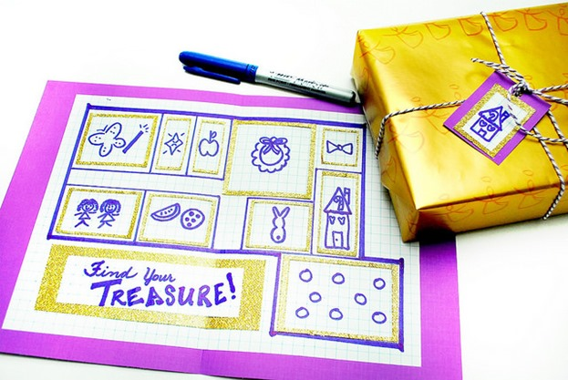 Christmas Treasure Map