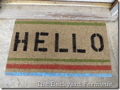 doormat  makeover - The Backyard Farmwife