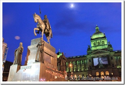 Prague, St Wenceslas Statue, Wenceslas Square