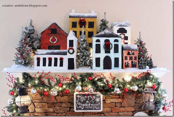 Christmas Mantel Snow Village