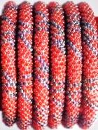 rollover bracelet red blue