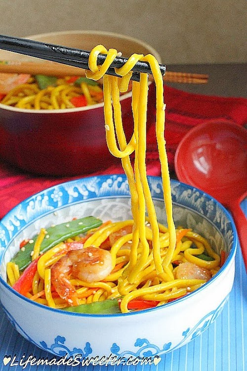 Shrimp & Snow Peas Stir-Fry Lo Mein Noodle Life made Sweeter 9.jpg