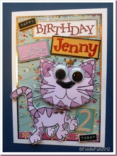 Big Eyed Cat card