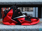 nike lebron 11 gr black red 8 01 New Photos // Nike LeBron XI Miami Heat (616175 001)